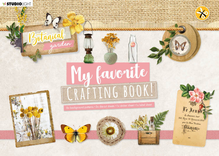Studio Light - My Favorite Crafting Book A4 - Botanical Garden nr 99