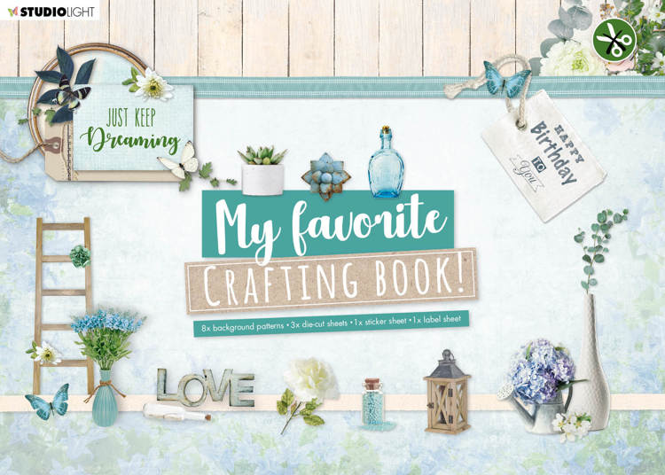 Studio Light - My Favorite Crafting Book A4 - Just Keep Dreaming nr 100