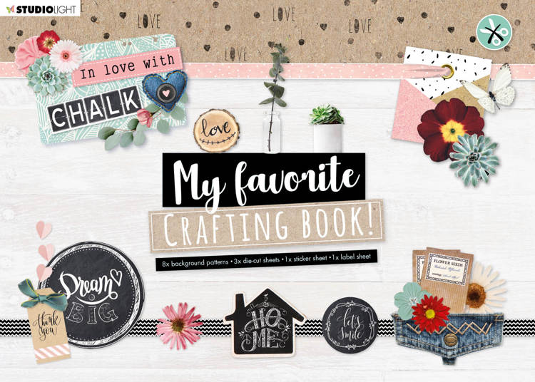 Studio Light - My Favorite Crafting Book A4 - Love With Chalk nr 101