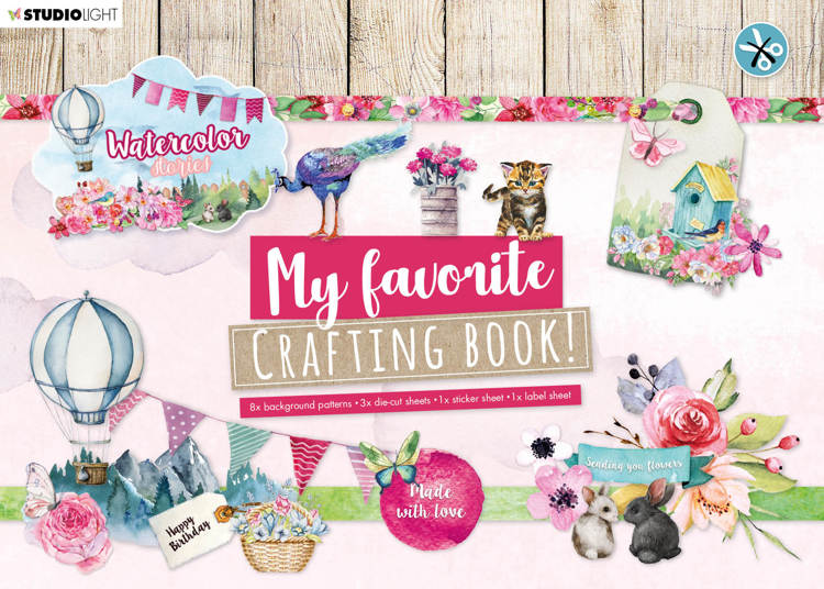 Studio Light - My Favorite Crafting Book A4 - Watercolor Stories nr 102
