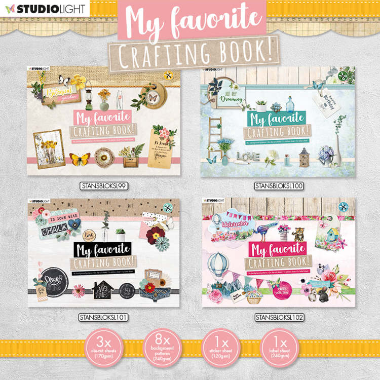 Studio Light - My Favorite Crafting Book - ACTIESET 99 t/m 102