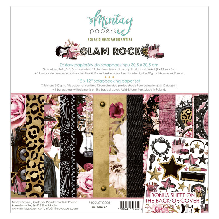 Paperpad Mintay - Glam Rock 30,5 x 30,5 cm - MT-GLM-07