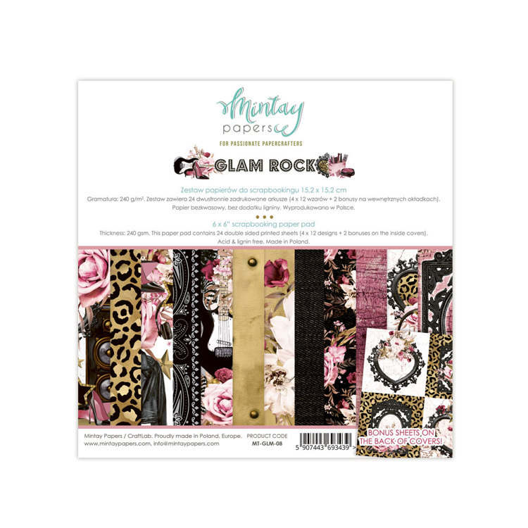 Paperpad Mintay - Glam Rock 15.2 x 15.2 cm - MT-GLM-08