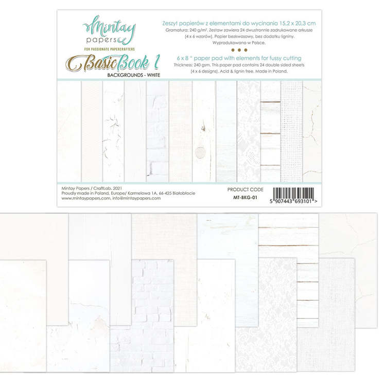 Paperpad Mintay Papers - Basic Book 1 - 15.2 x 20.3 cm - MT-BKG-01