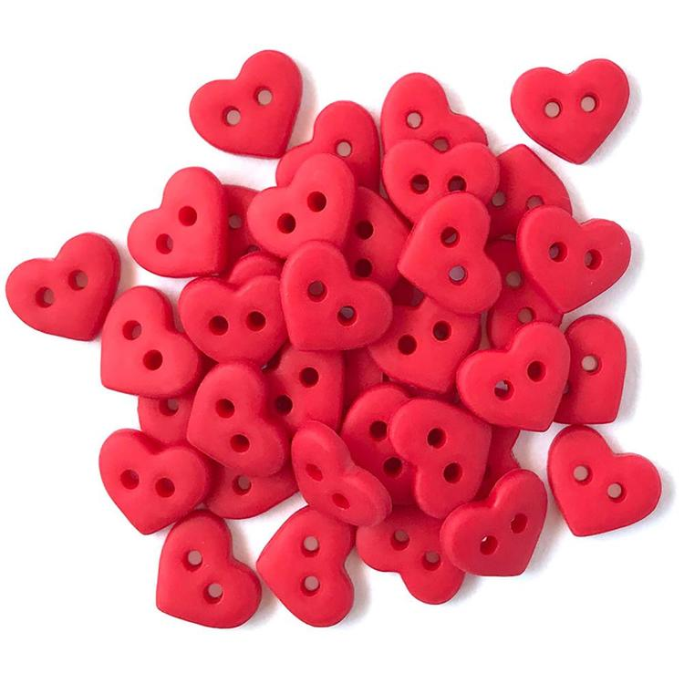Buttons Galore - Tiny Buttons - Red Heart