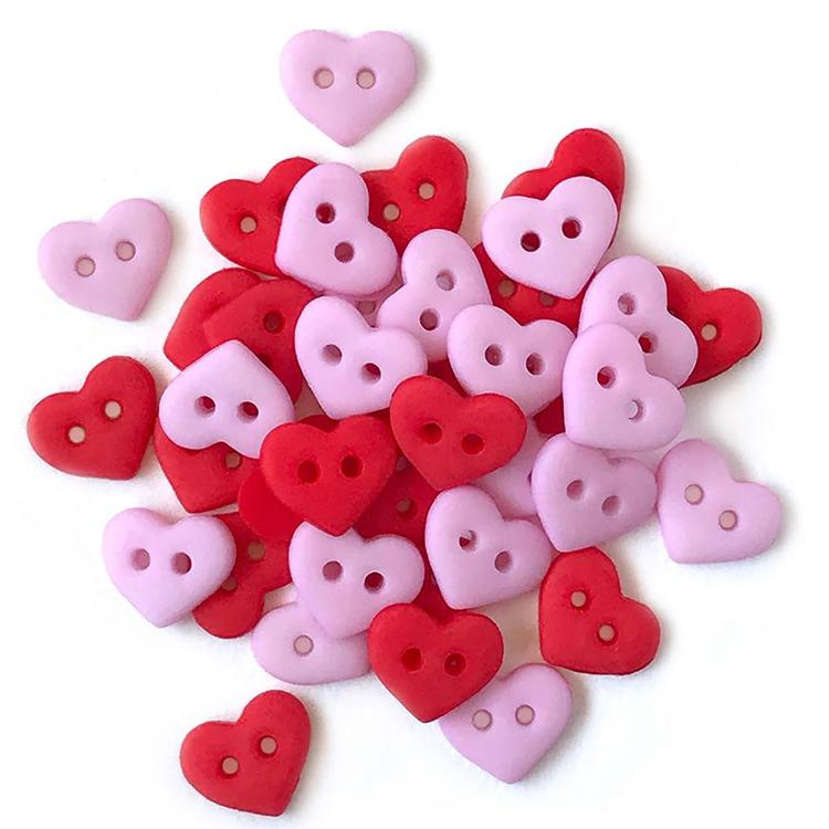 Buttons Galore - Tiny Buttons - Valentine Heart