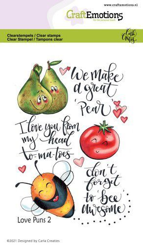 CraftEmotions - Clearstamps A6 - Carla Creaties - Love Puns 2