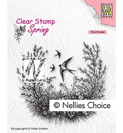 Nellie Snellen - Clear Stamps - Lente/Spring - Spring is in the air