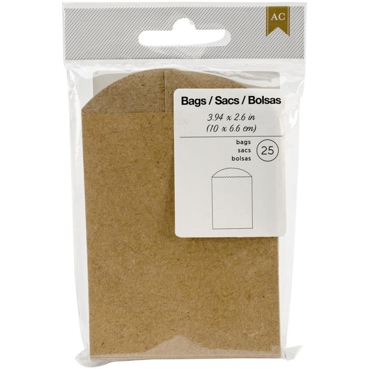 "American Crafts - Mini Bags - 3.94""X2.6"" (25/Pkg)"