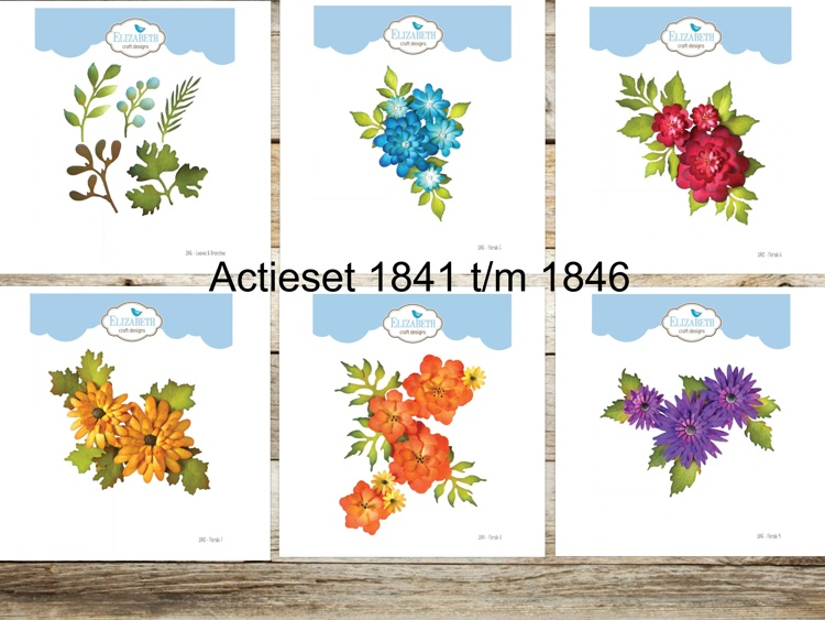 Elizabeth Craft Design - The Paper Flower Collection - Actieset 1841 t/m 1846
