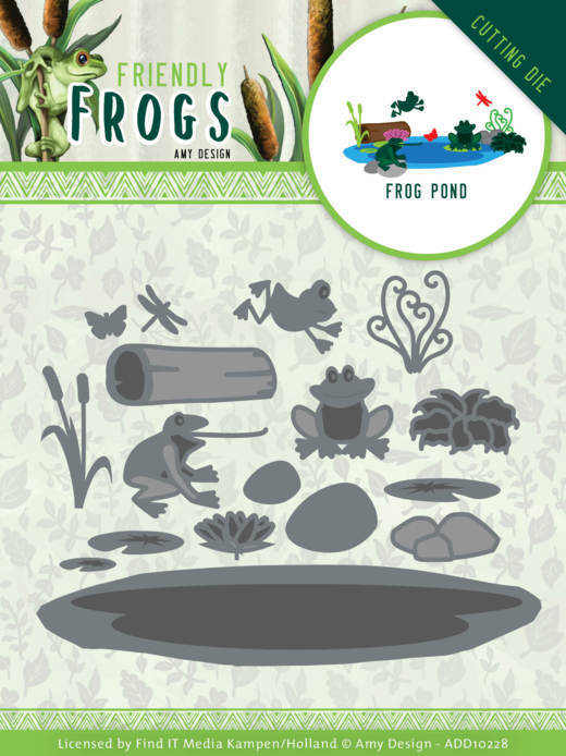 Stansmal - Amy Design - Friendly Frogs - Frog Pond
