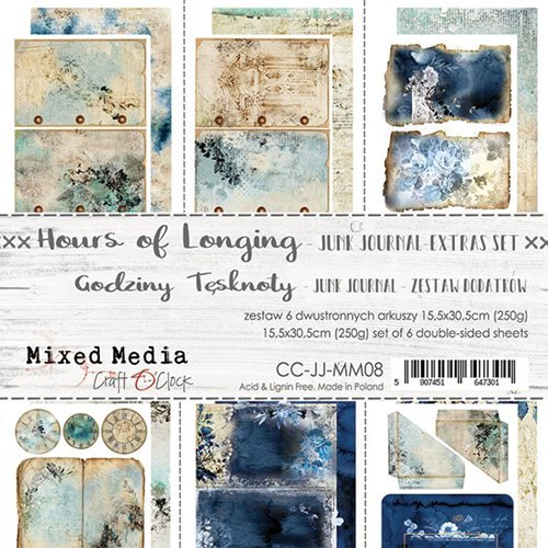 Craft O' Clock - Mixed Media Collection - Hours of Longing - Junk Journal Kit