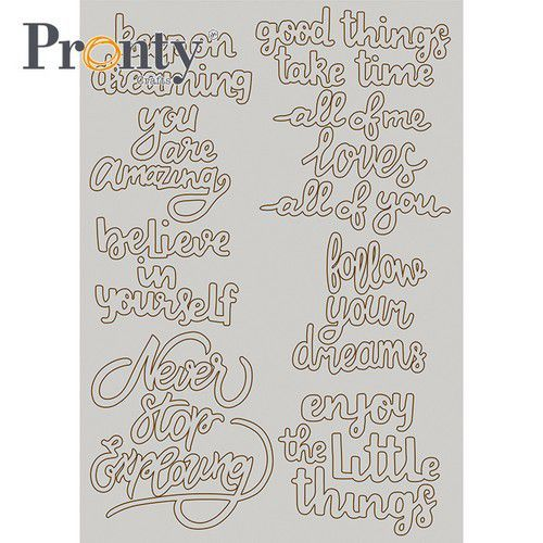 Pronty - Chipboard - Quotes A5