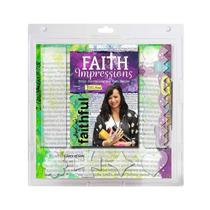 Gel Press Printing Plate - Faith Impressions Kit
