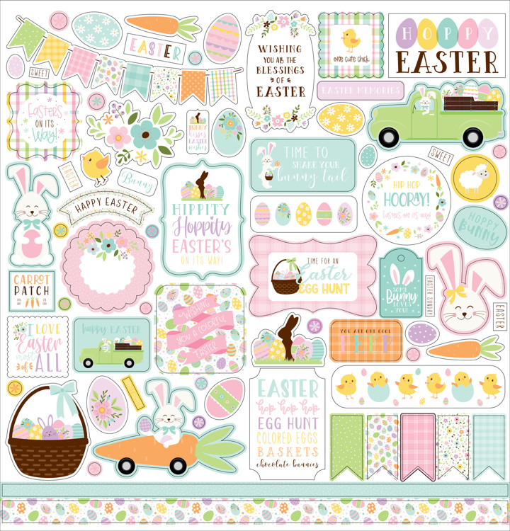 Echo Park - Welcome Easter - 12x12 Inch Element Sticker