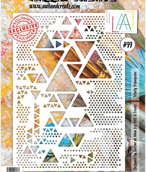 AALL & CREATE - Stencils - A4 set number #99