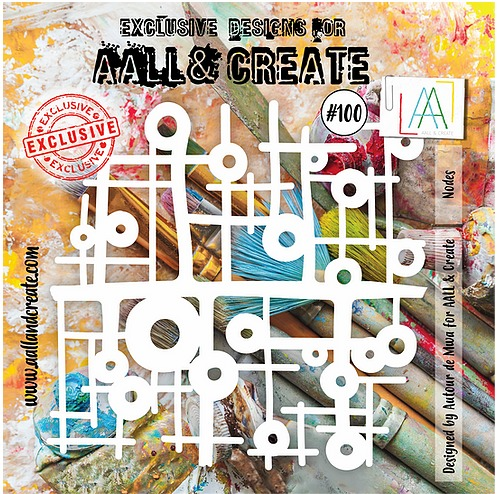 "AALL & CREATE - Stencils - 6"" x 6"" set number #100"