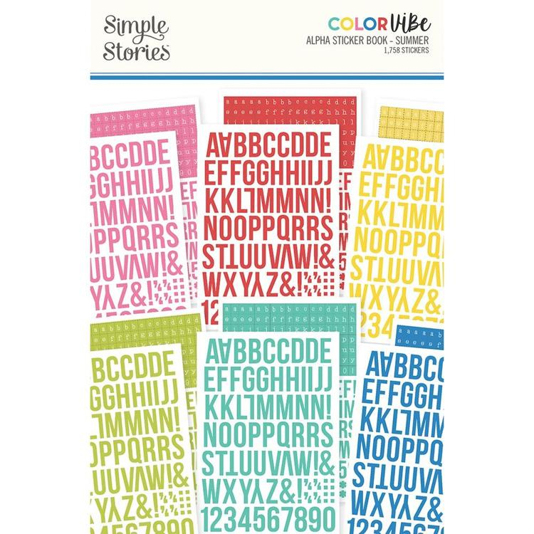 Simple Stories - Alpha Stickerbook - Color Vibe - Summer