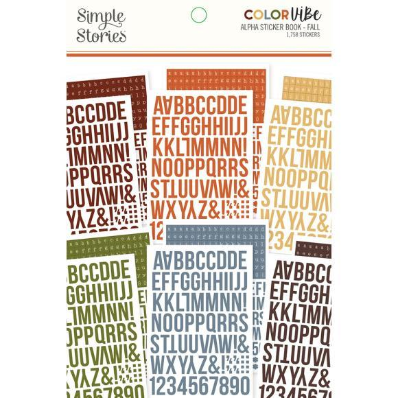 Simple Stories - Alpha Stickerbook - Color Vibe - Fall