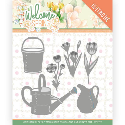 Stansmal - Jeanine's Art  Welcome Spring - Watering Can and Bucket