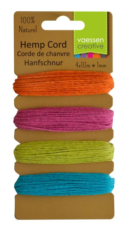 Vaessen Creative - Hemp Cord Assortment - 4x10m - Summer