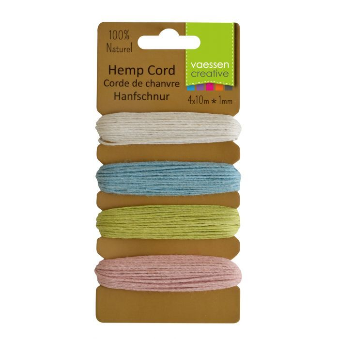 Vaessen Creative - Hemp Cord Assortment - 4x10m - Spring