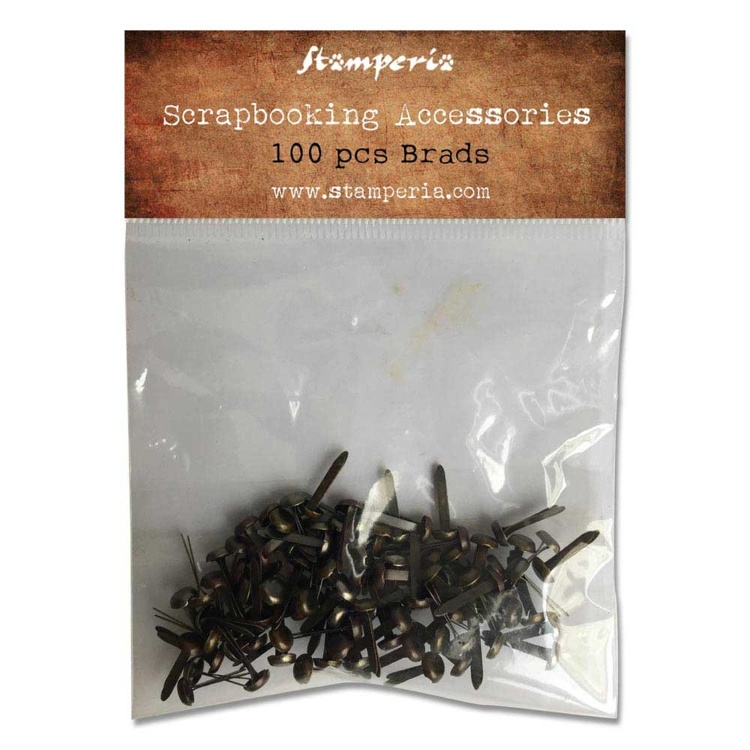 Stamperia - Brads Brass - (100pcs)