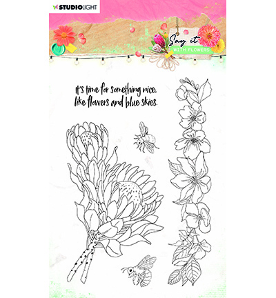 Studio Light - Say it with Flowers - Stempel A6 - SL-SWF-STAMP524