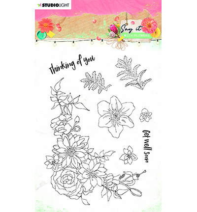 Studio Light - Say it with Flowers - Stempel A6 - SL-SWF-STAMP525