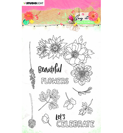 Studio Light - Say it with Flowers - Stempel A6 - SL-SWF-STAMP526