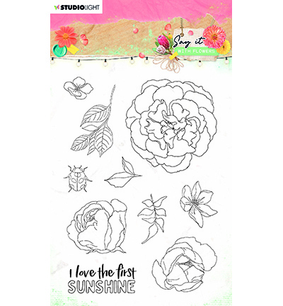 Studio Light - Say it with Flowers - Stempel A6 - SL-SWF-STAMP527