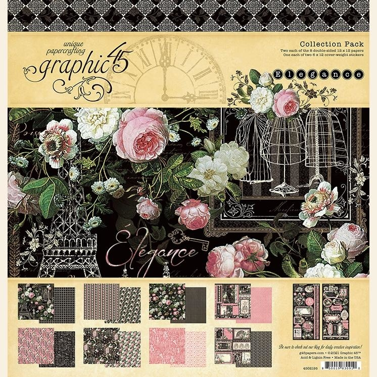 Graphic 45 - Elegance - Paperpad 30 x 30 cm - Collection Pack