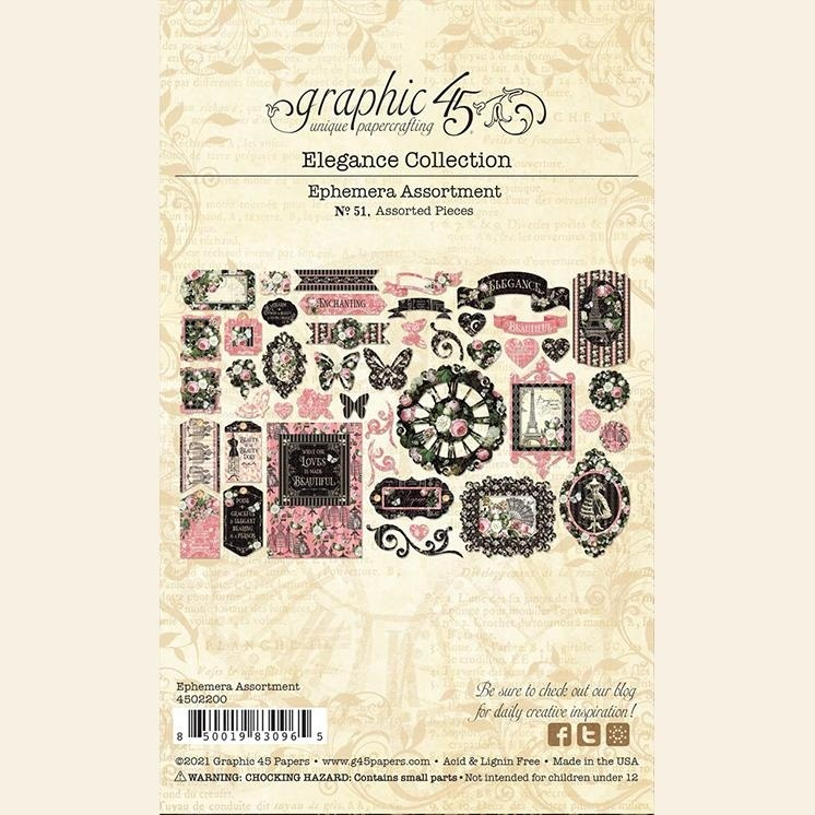Graphic 45 - Elegance - Die-cut Assortment