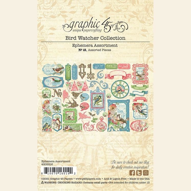 Graphic 45 - Bird Watcher - Die-cut Assortment