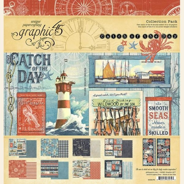 Graphic 45 - Catch of the Day - Paperpad 30 x 30 cm - Collection Pack
