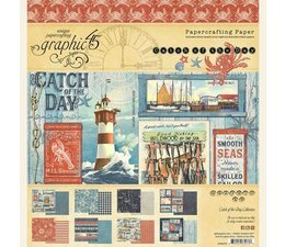 Graphic 45 - Catch of the Day - Paperpad 20 x 20 cm