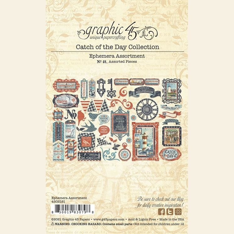 Graphic 45 - Catch of the Day - Die-cut Assortment
