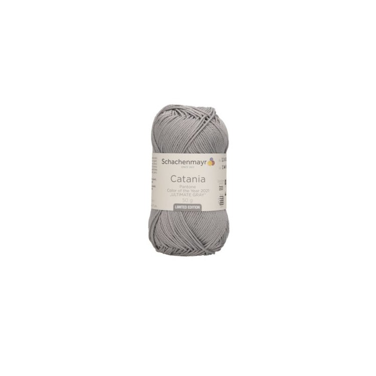 Brei- en Haakkatoen Catania - kleur 12021 (Illuminating Gray Limited edition 2021)