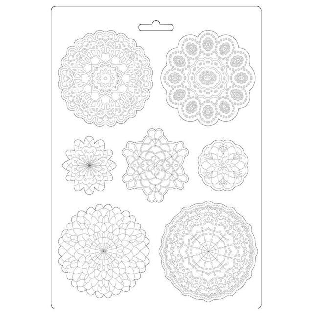Stamperia - Soft Mould A4 - Passion round lace