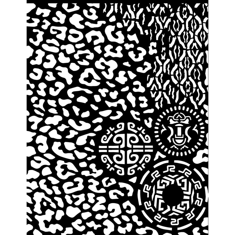 Stamperia - Thick Stencil - 20 x 25 cm - Amazonia animalier with tribals