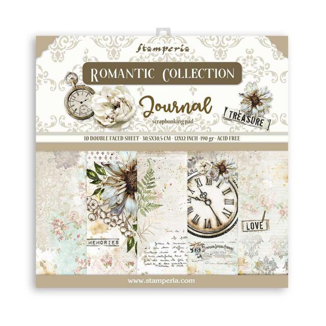 Paperpad Stamperia - 30.5 x 30.5 cm - Romantic Journal