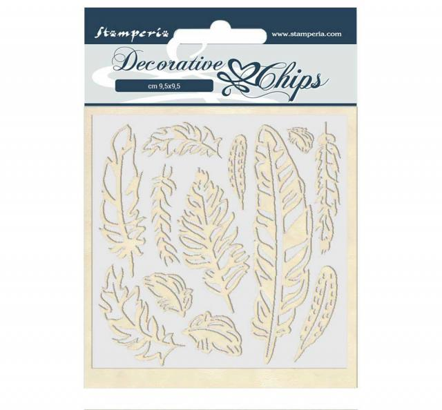 Stamperia - Decorative Chips - Amazon feather