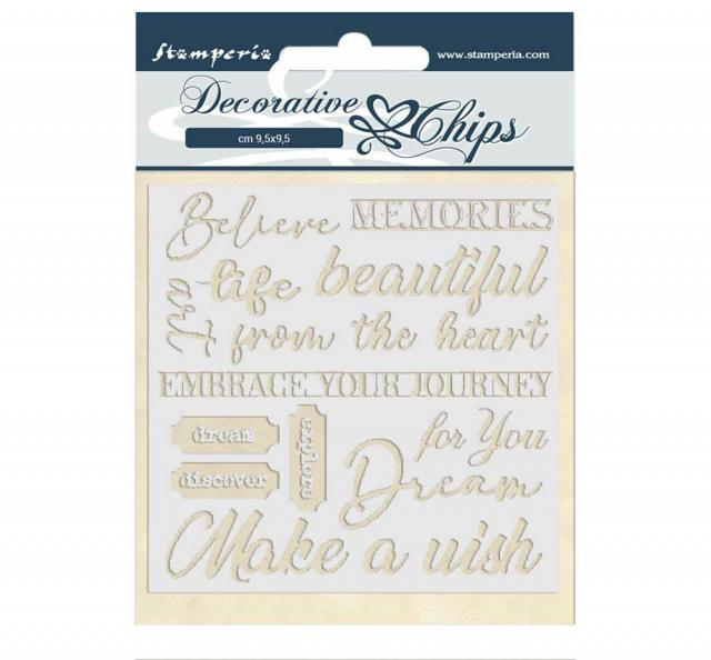 Stamperia - Decorative Chips - Atelier des Arts quotes