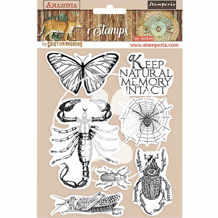 Rubber Stamp - Stamperia - Amazonia butterfly