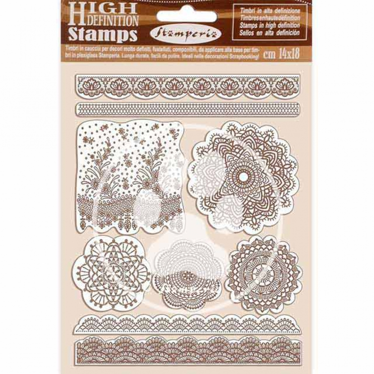 Rubber Stamp - Stamperia - Passion lace