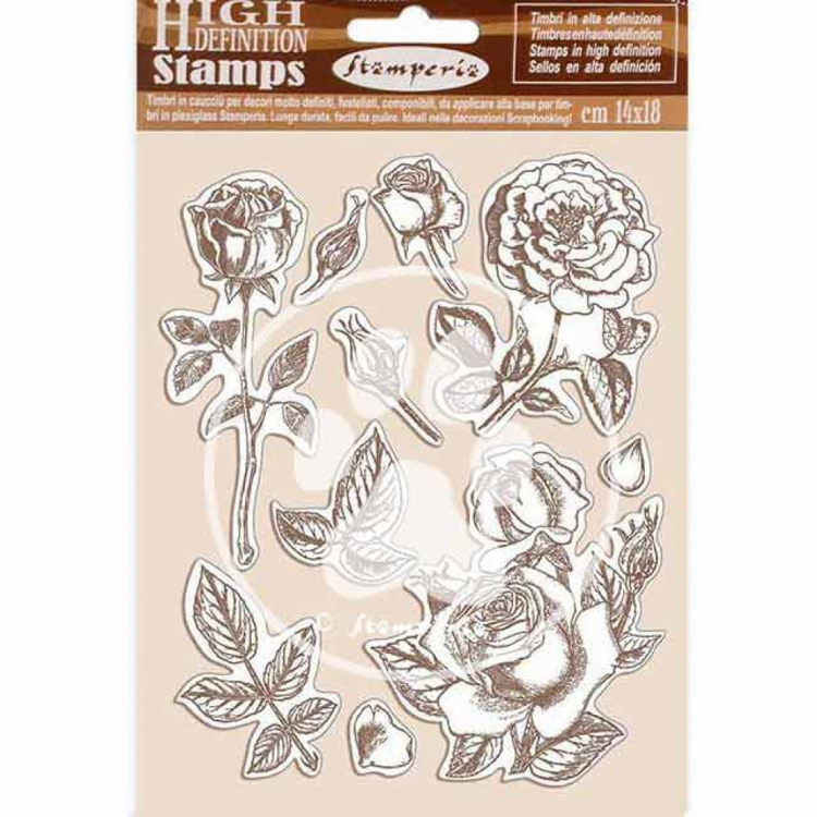 Rubber Stamp - Stamperia - Passion rose