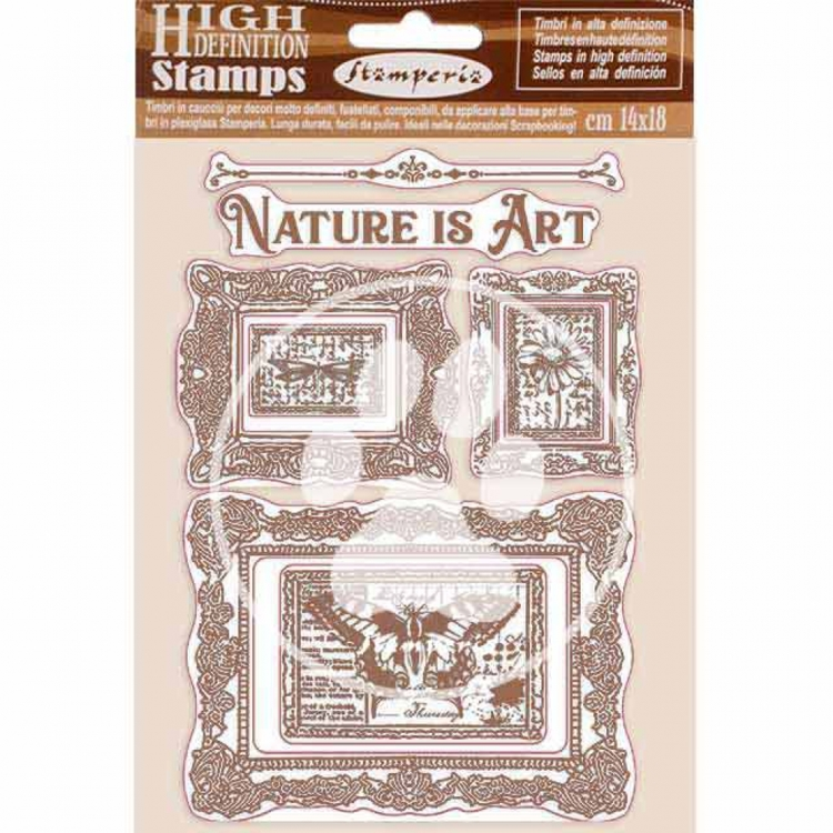 Rubber Stamp - Stamperia - Nature is Art frames