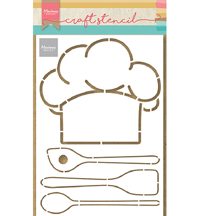 Marianne Design - Craft Stencil - Chefs hat & utensils