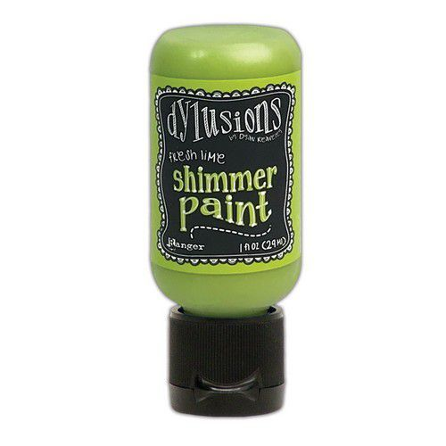 Ranger - Dylusions Paints Bottle 29,6ml - Shimmer - Fresh Lime