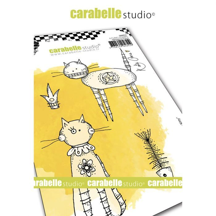 Carabelle Studio - Cling Stamp - Hier Kitty Kitty